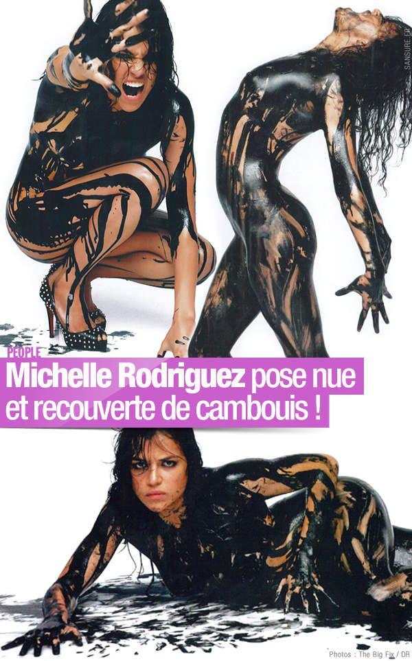 Michelle Rodriguez pose nue et recouverte de cambouis ! #FastAndFurious7