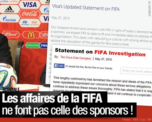 Les affaires de la FIFA ne font pas celle des sponsors ! #FIFA