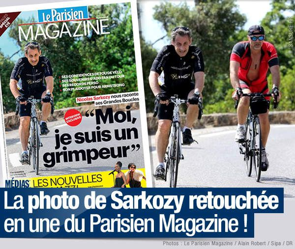 La photo de Sarkozy retouchée en une du Parisien Magazine ! #Photoshop