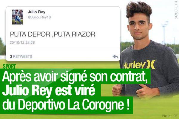 Après avoir signé son contrat, Julio Rey est viré du Deportivo La Corogne ! #football