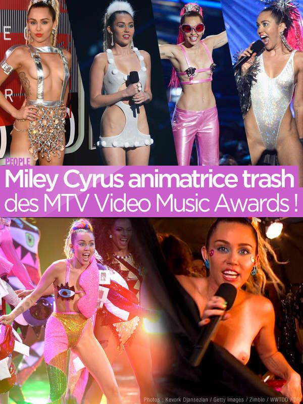 Miley Cyrus présentatrice trash des MTV Music Video Awards ! #MTV