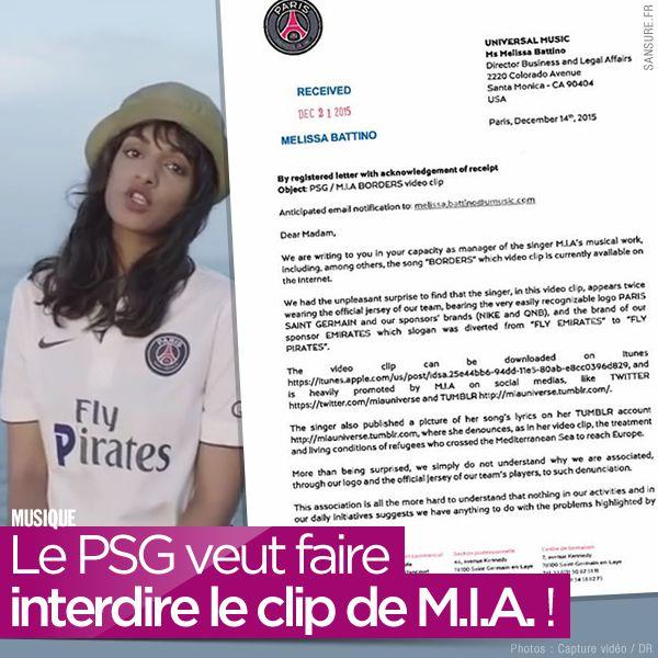 Le PSG veut faire interdire le clip de M.I.A. ! #Borders