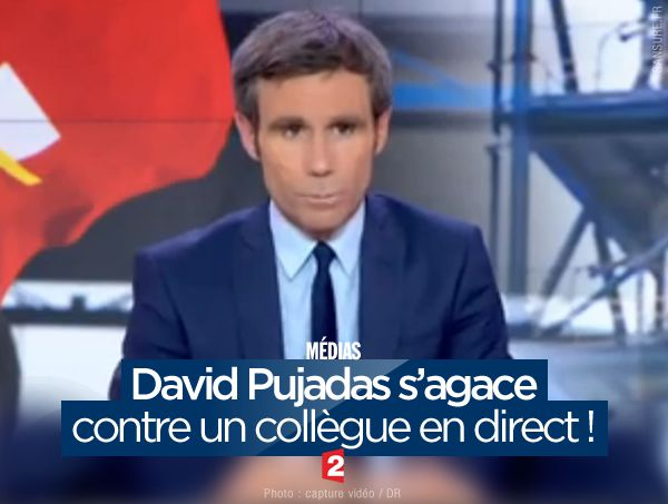David Pujadas s'agace contre un collègue en direct ! #20heures