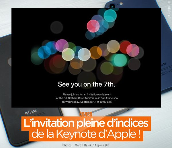 L'invitation pleine d'indices de la Keynote d'Apple ! #iPhone7