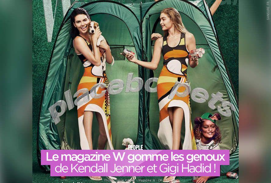 Le magazine W gomme les genoux de Kendall Jenner et Gigi Hadid ! #Photoshop