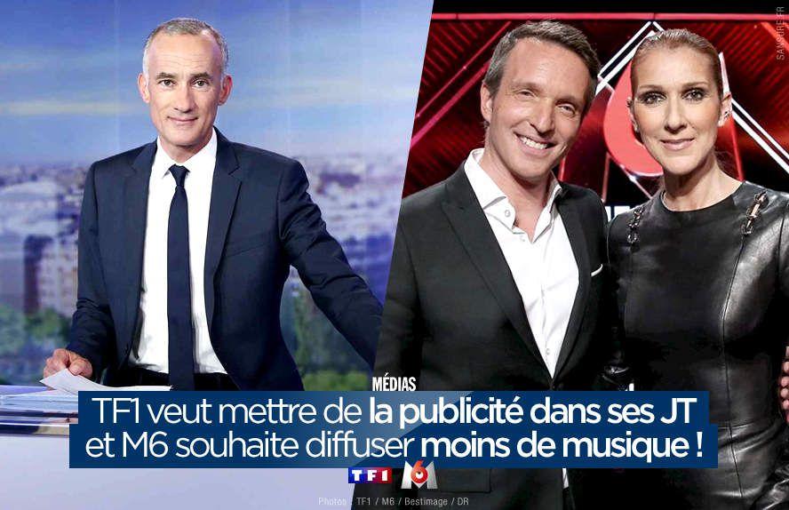 TF1 veut mettre de la publicité dans ses JT et M6 souhaite diffuser moins de musique ! #CSA