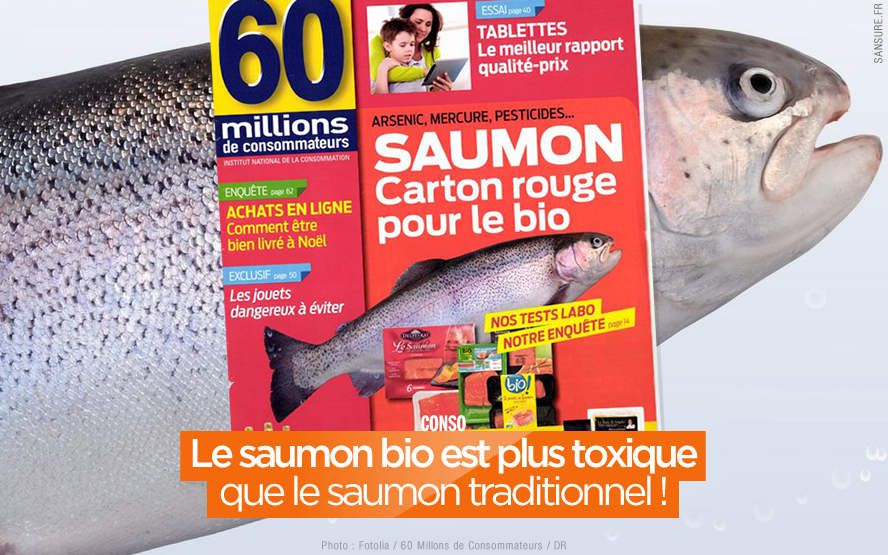 Le saumon bio est plus toxique que le saumon traditionnel ! #Saumon