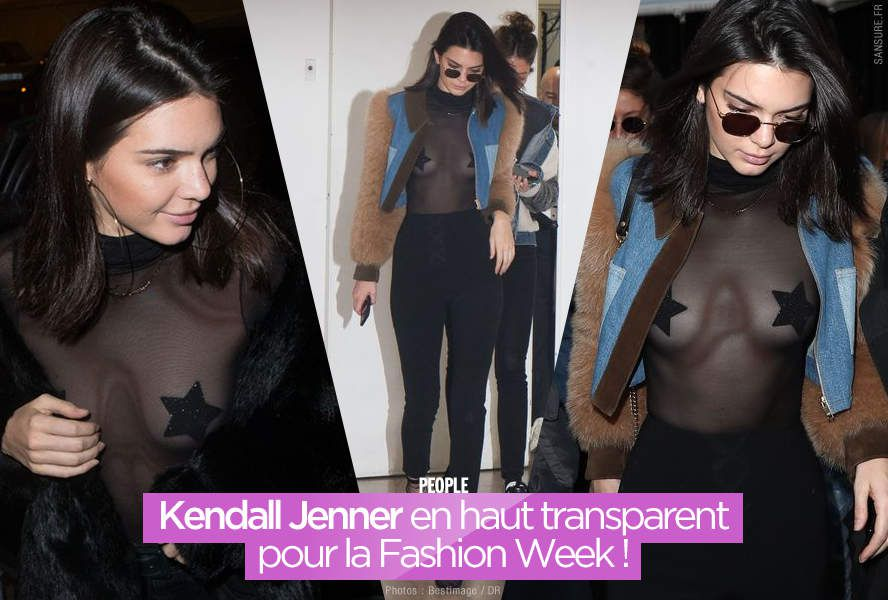Kendall Jenner en haut transparent pour la Fashion Week ! #sexy