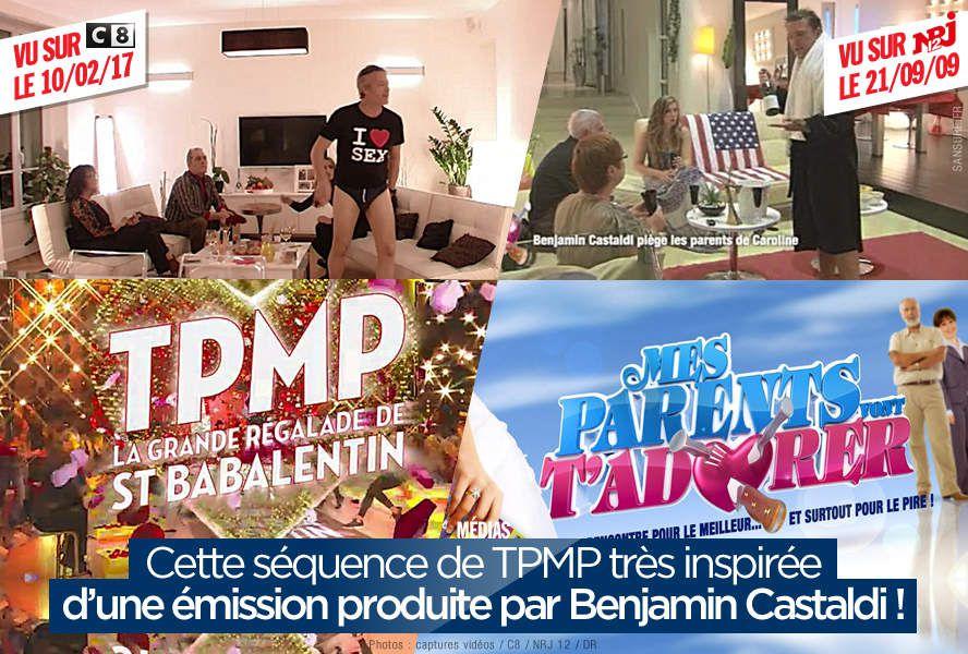 Cette séquence de TPMP très inspirée d'une émission produite par Benjamin Castaldi ! #TPMP