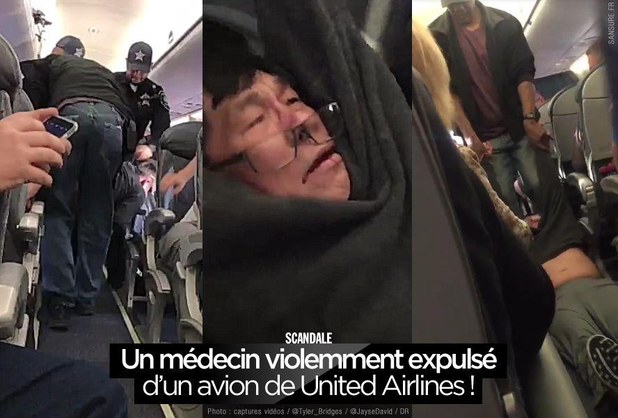Un médecin violemment expulsé d'un avion de United Airlines ! (mis à jour) #polémique