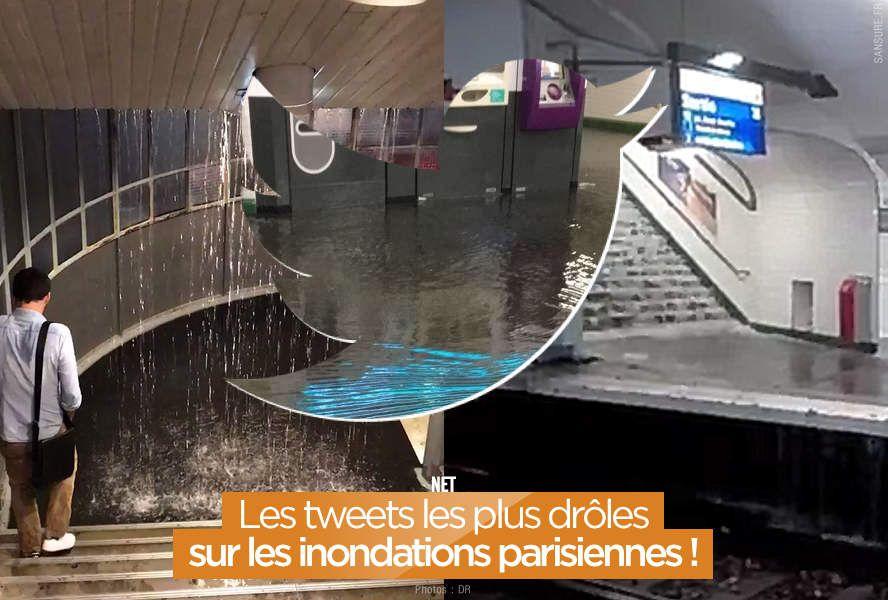 Les tweets les plus drôles sur les inondations parisiennes ! #orage