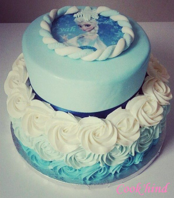Layer Cake Design Theme Reine Des Neiges