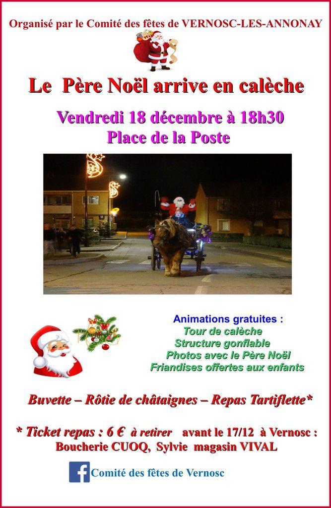Après un long voyage, le Père Noël s'arrêtera à Vernosc-lès-Annonay