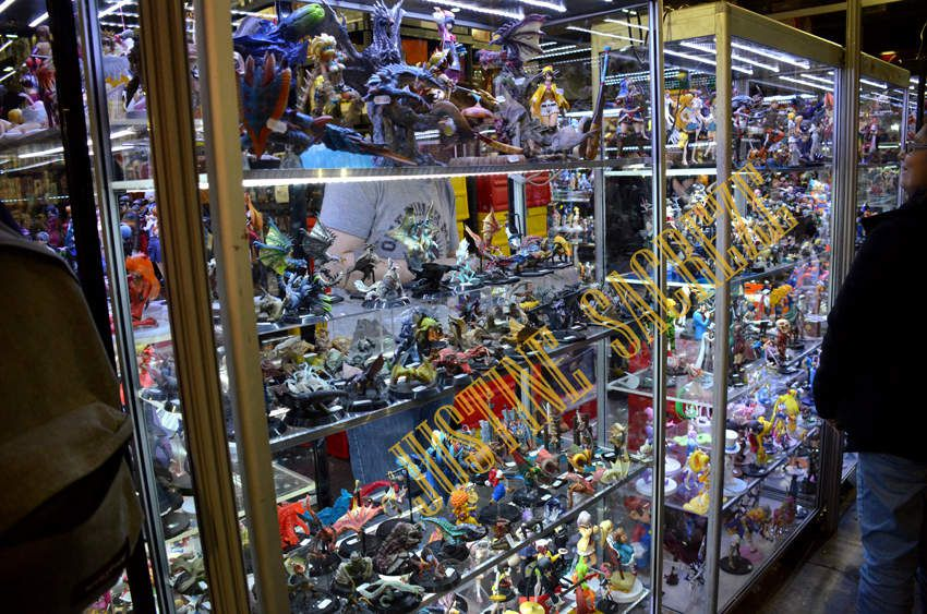 Un stand de figurines bien rempli !