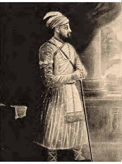 Unten vorletzte Großvater von Siraj-ud-Doula Ali Vardi Khan, unten letzte Siraj-ud-Doula (der letzte unabhängige Nawab von Bengal, Bihar und Orissa.
