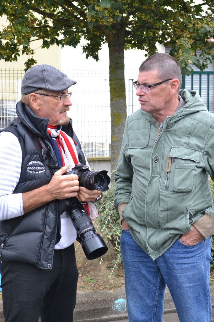 Gérard BRIAND avec Alain PAGNARD à Antony (92), lors du prix Baesler, le 21 septembre 2014.