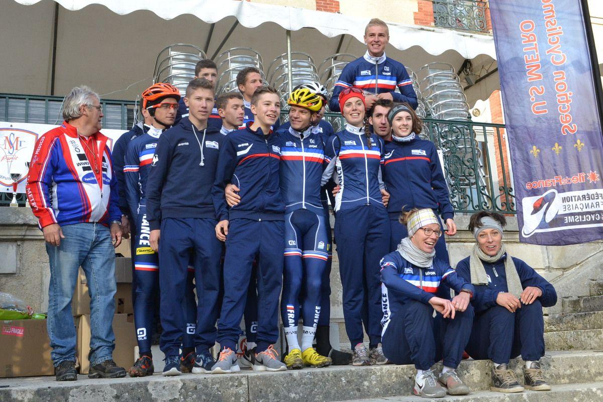 """Les équipes de France """"Dames"""", Espoirs et Juniors à Fontenay-lès-Briis après 3 jours de stages en ile de France."""