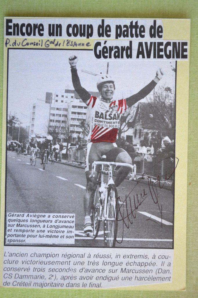 Gérard Aviègne (Team Bonnat), vainqueur du Prix du Conseil Général de l'Essonne à Longjumeau.