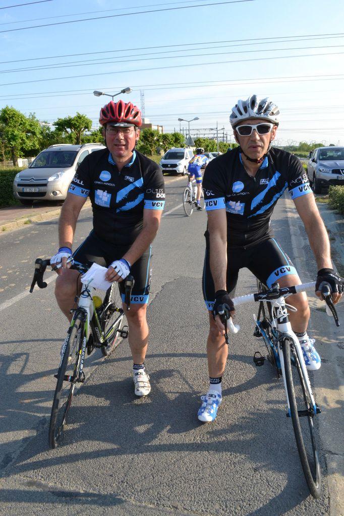 Sylvain CAZES et Edouardo DAFONSECA (VC Villejust)