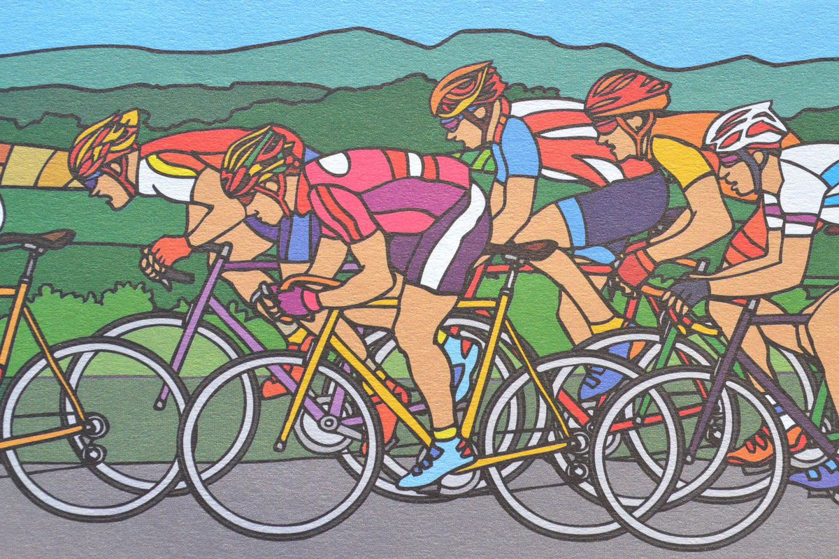 coloriages cyclistes 2016