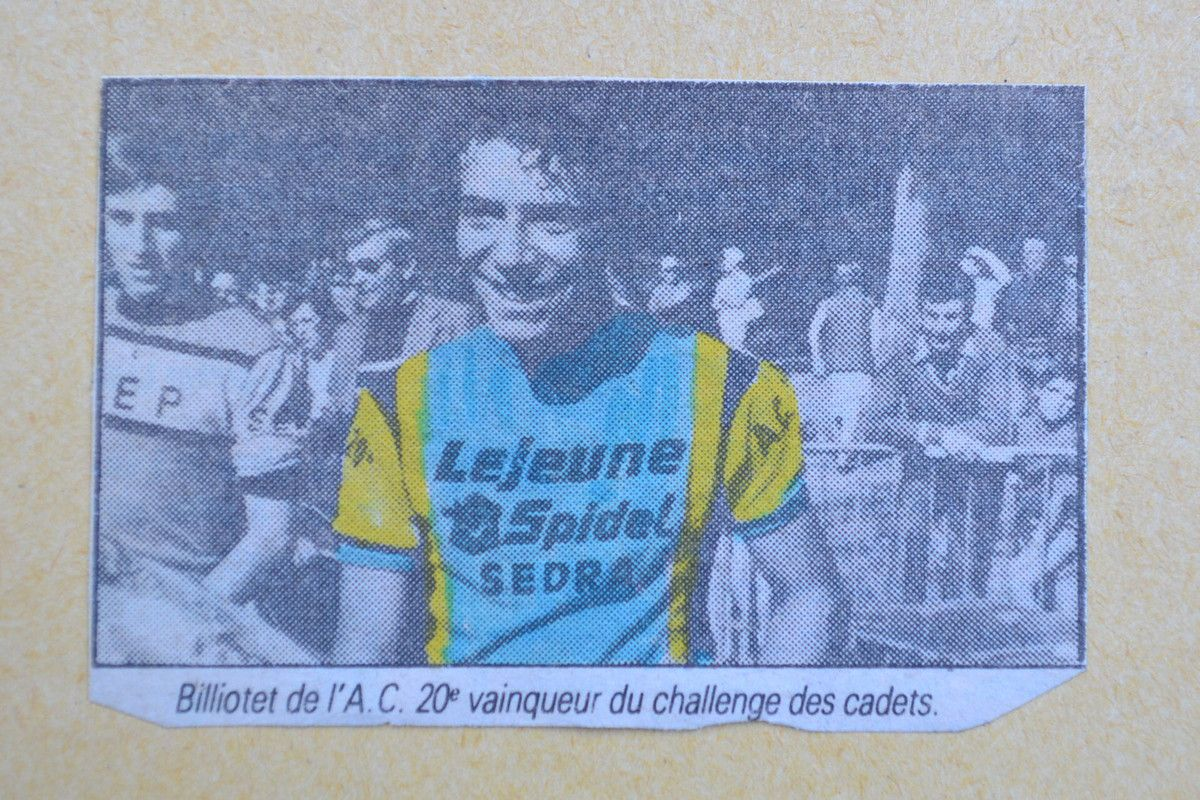 James BILLIOTTET (VC Arpajon 2017) et AC XXè 1979