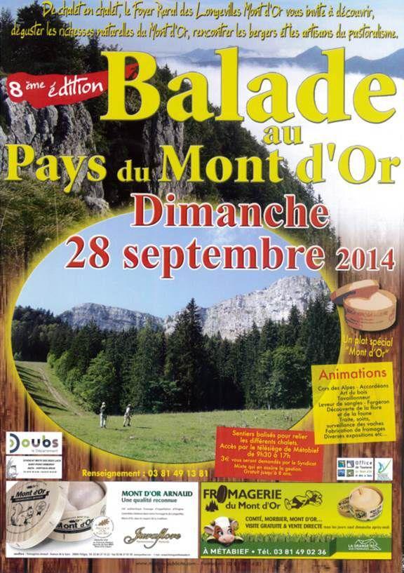 Ballade Pays du Mont d'Or Dimanche 28 septembre 2014