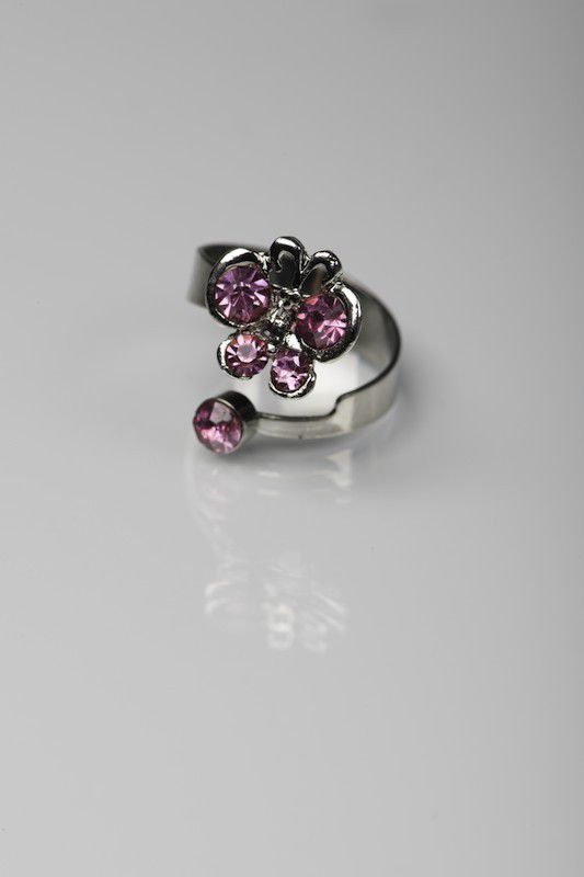bague papillon rose Briliantina