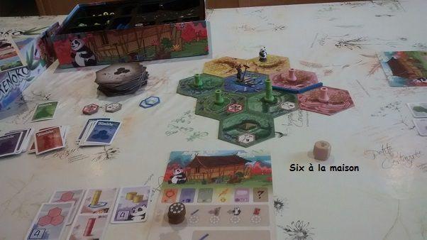 déroulement du jeu Takenoko