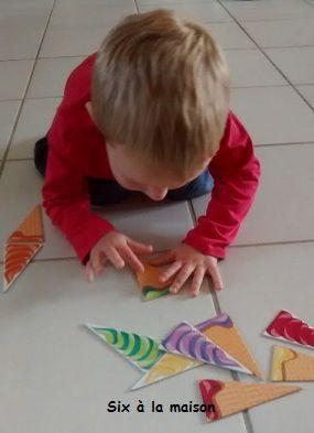 Je touche , activité Montessori