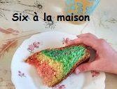 gâteau arc en ciel facile et rapide rainbowcake