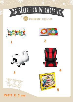 sélection cadeaux Noël garçon 2 / 3 ans Berceau Magique