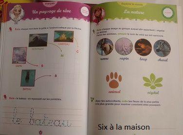 cahier de vacances Hachette Edition Reine des Neiges GS