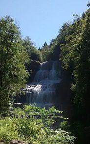 cascades du Hérisson Jura , cascade de l'éventail 65m de hauteur
