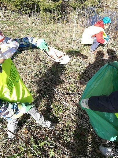 Le nettoyage de la nature - L'enfant et la nature.