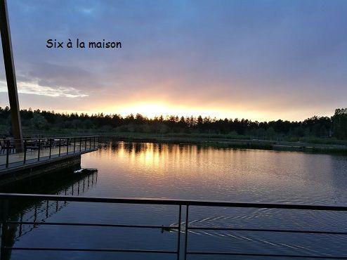 Center Parcs Bois aux daims aqua mundo coucher de soleil