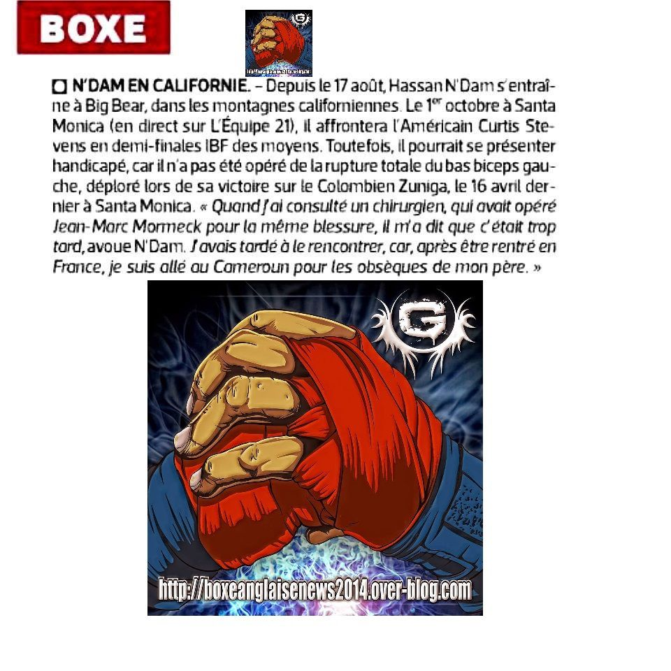 L'article Boxe du journal L'EQUIPE par Pascal Boxe