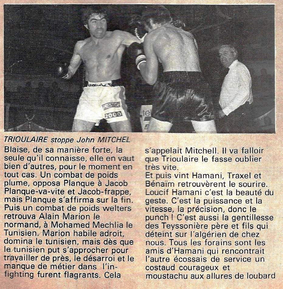 Jacques Jacob : 489 rounds boxer en 9 ans de carrière !