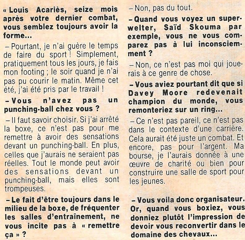 Louis et Michel Acariès les deux seules personnes qui manquent au noble art en France !