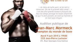 Audition publique de Jean-Marc Mormeck
