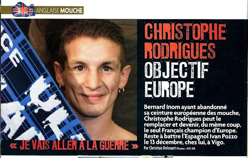Christophe Rodrigues : &quot&#x3B;Je vais aller a la guerre&quot&#x3B;