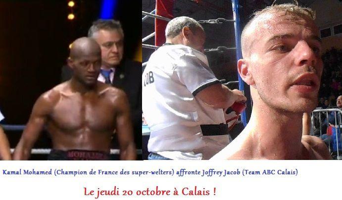 Kamal Mohamed affrontera Joffrey Jacob à Calais