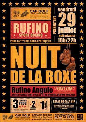 Rufino Angulo organise le premier gala de boxe du Cap-Ferret