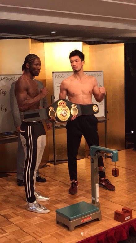 (Photos inédites de la pesée) Hassan N'Dam VS Ryota Murata :  Ce matin a eu lieu la pesée du championnat du monde au Japon