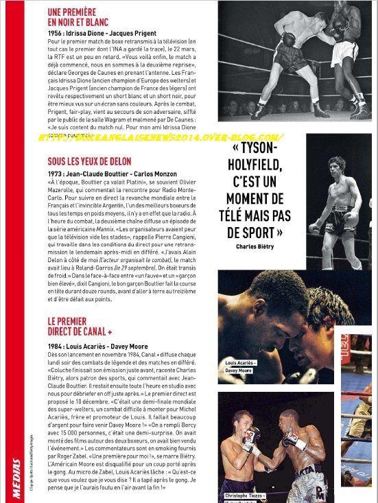 Grand article sur le noble art dans L'équipe Magazine du 27 Mai !