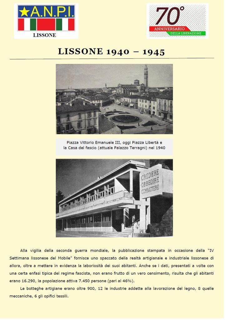 25 aprile 1945 - 25 aprile 2015: una mostra per il settantesimo della Liberazione