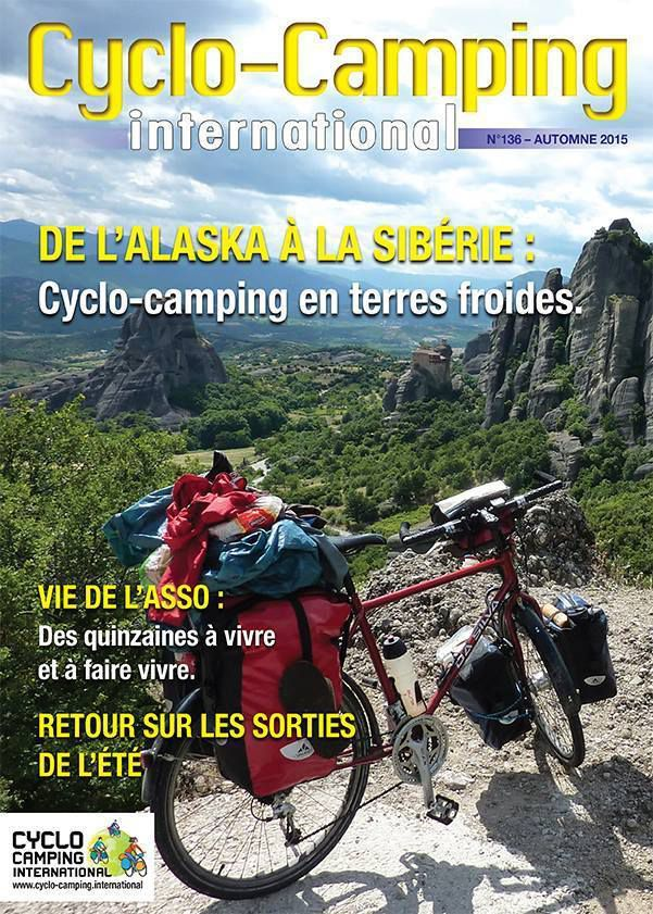 Couverture du trimestriel Cyclo-Camping International d'octobre 2015