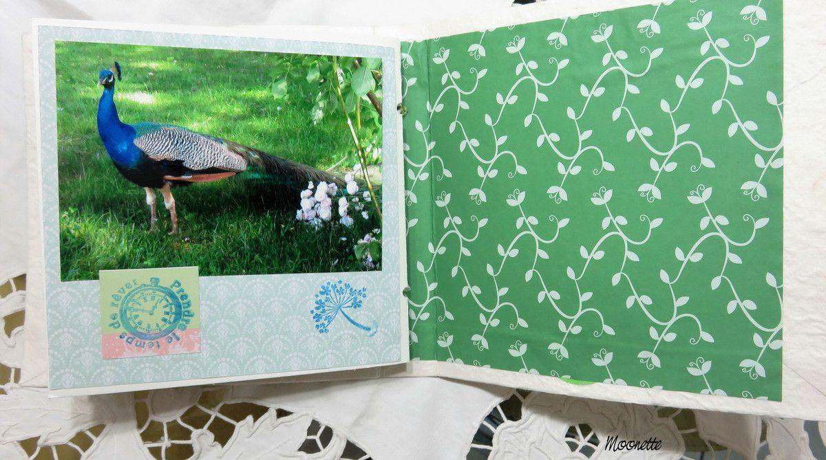 La couverture est recouverte d'un papier japonais blanc incrusté de feuilles séchées