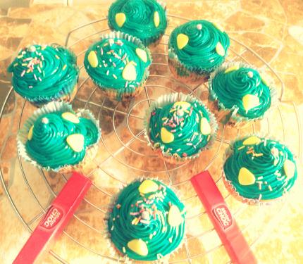 Cup cakes mister choc coloré