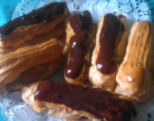 Eclairs style mousse choco