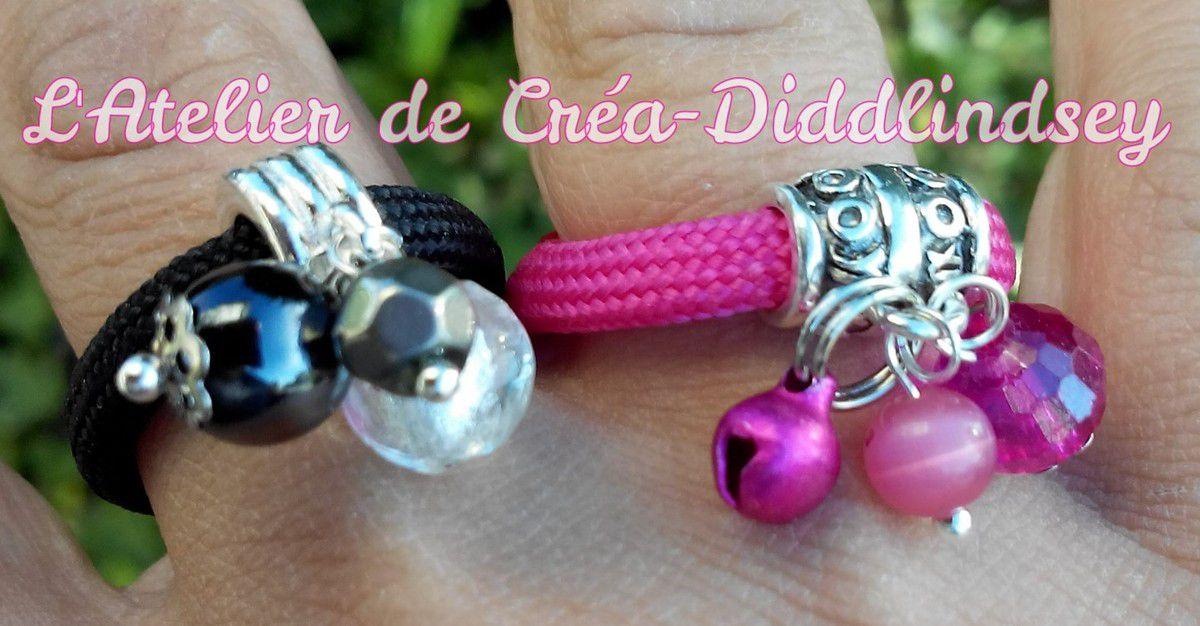 Voici de jolies bagues réalisée pour assortir au bracelets que je vous ai présenté dernièrement . Ce sont là aussi des modèle présent dans mon dernier livre.